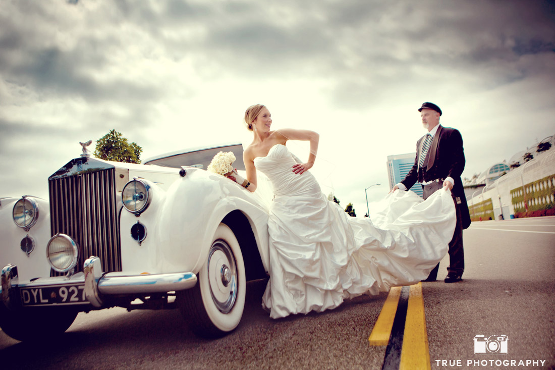 COUPLES - Couple with Vintage Rolls-Royce Wedding Car Couple with ...