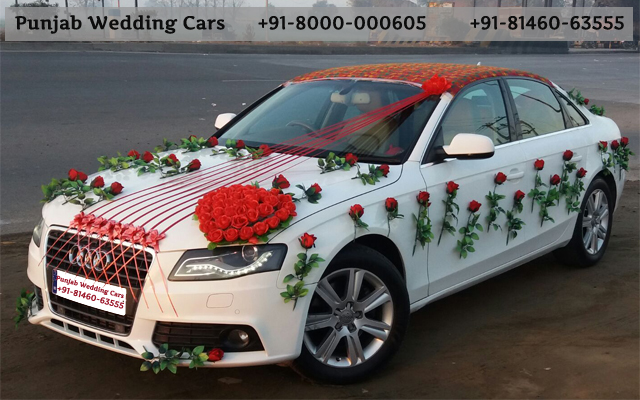 Wedding cars audi decorated flowers ribbons rose bouquet audi wedding cars audi decorated flowers ribbons rose bouquet available in chandigarh jalandhar junglespirit
