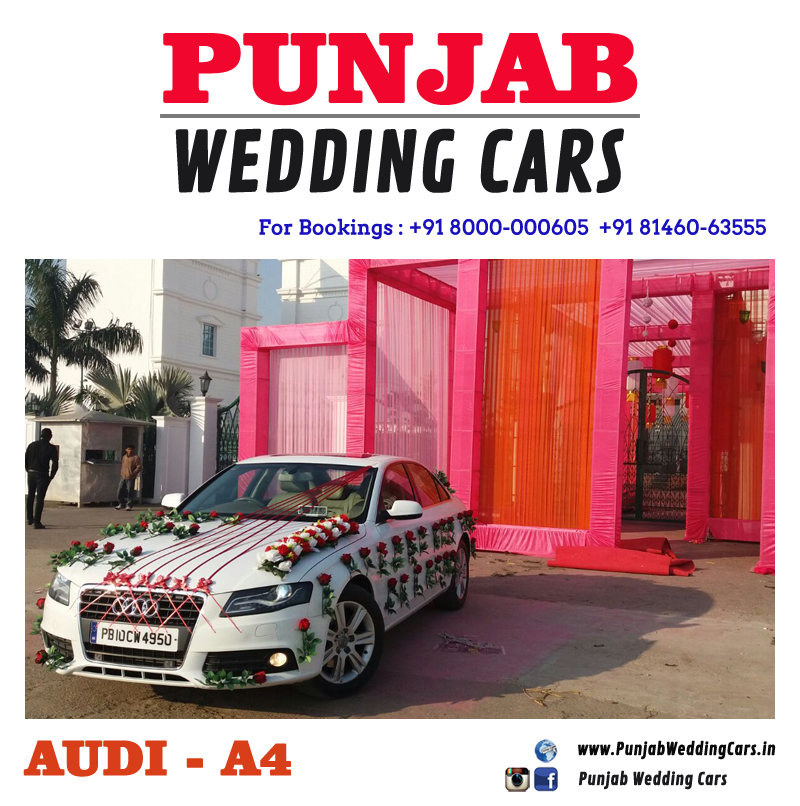 Royal Luxury Wedding Car Hire Rental In Punjab India - Audi car decoration
