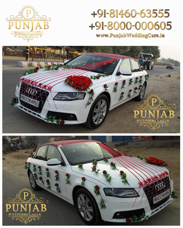 Luxury Wedding Doli Cars And Limousine For Rent In Hanumangarh - Audi car decoration