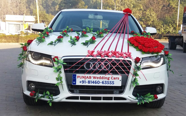 WEDDING CARS Audi - Wedding Car - Decorated with Flowers Audi - Wedding Car - Decorated with Flowers for wedding rental in Punjab, India