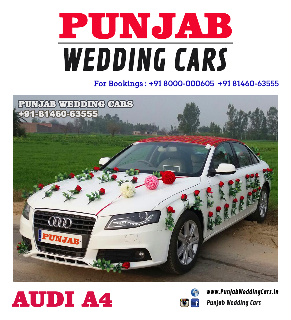 WEDDING CARS DECORATED AUDI FOR WEDDING DECORATED AUDI FOR WEDDING for wedding rental in Punjab, India