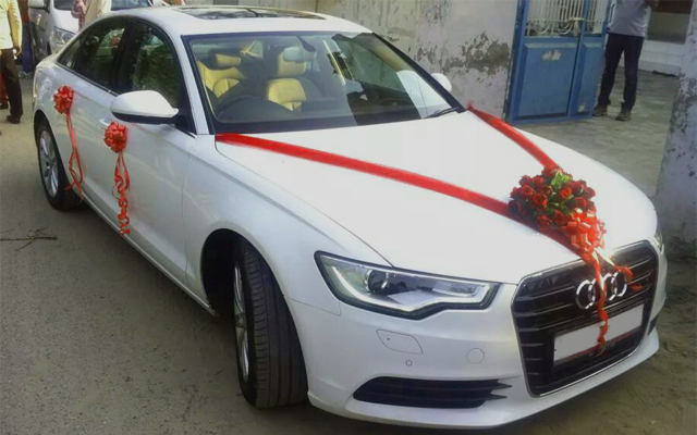 Audi A6 White Color Luxury Wedding Car Hire Available Luxury Cars For Hire In Punjab