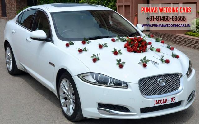 Jaguar Xf White Color Luxury Wedding Car Hire Available